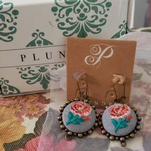 MODIFIED Serfina embroidered earrings